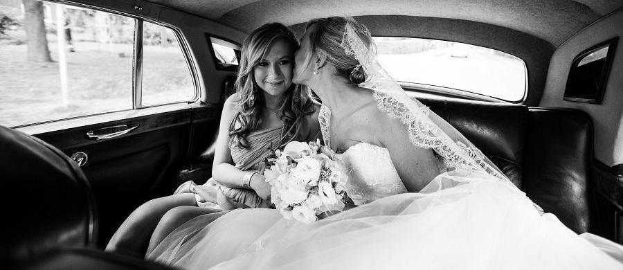 Hochzeit, Braut und Brautjungfer